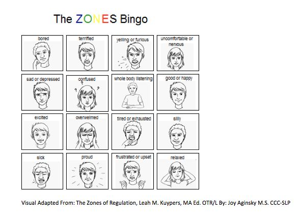 The Zones of Regulation: Simplified Bingo: For Learning