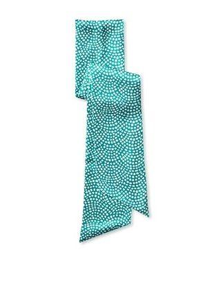 47% OFF J. McLaughlin Women's Arno Silk Sash, Turquoise/White