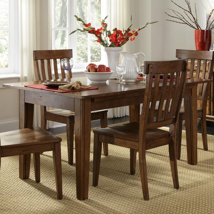 Toluca Solid Wood Leg Table With 3 Self Storing Leaves By AAmerica At Johnny Janosik