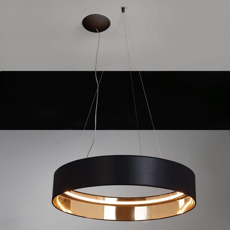 Pendant lamp contemporary aluminum fabric radar 1570 egoluce