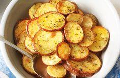 Batatas crocantes com orégano e limão