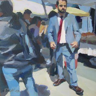 Kaethe Bealer Painting: Necktie Guy and the Marin County Fair