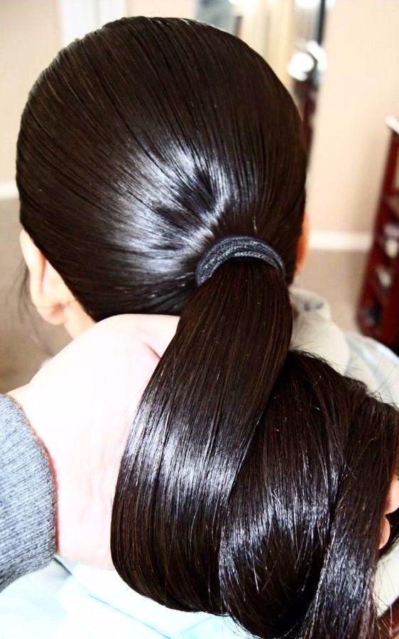 Amazing Thick Shiny Pony Long Hair Styles Hot Hair