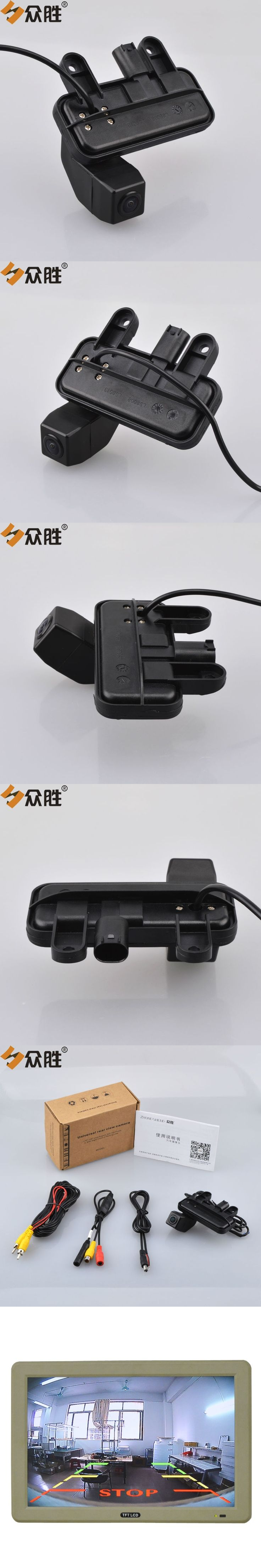 Car Trunk Handle Camera for Mercedes Benz E Class W212 2010-2016 Car Rear View Backup Reverse Parking Rearview Camera LS8013SMT