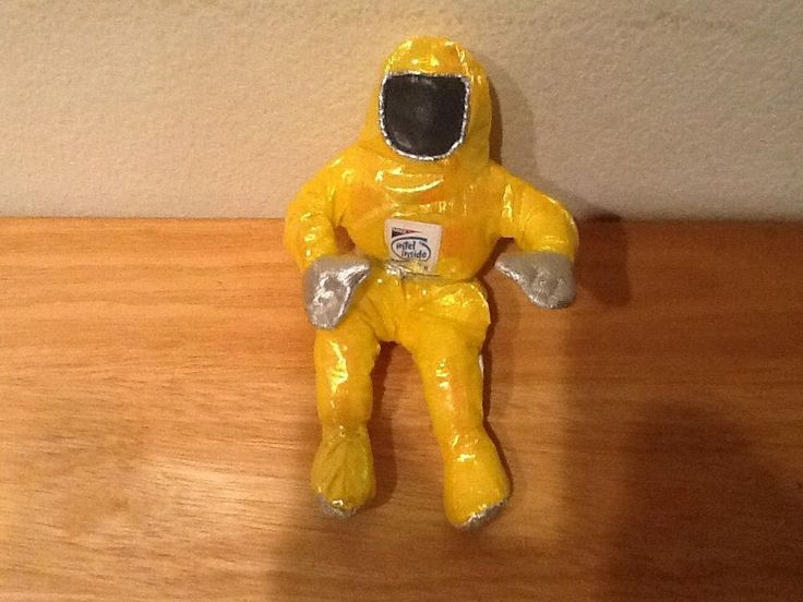 "Intel Pentium II 1997 Plush Bunny Man Yellow 8"" Astronaut #Intel"