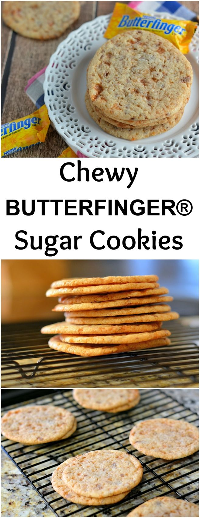 BUTTERFINGER® Sugar Cookies Recipe- soft and chewy sugar cookies ...