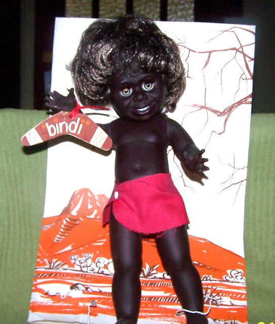 Introducing 'Bindi' by Metti    The collection I am showing here are Australian dolls.     These dolls were made by Metti, a South Australian doll company that's still trading today under the name of Netta (remember the children's lamps / night lights? made by Netta).    Bindi (first made in 1969) the Aboriginal girl doll would be the most popular of the Metti / Netta dolls and she is still in production today although she looks different and I'm not sure she is still known as Bindi?