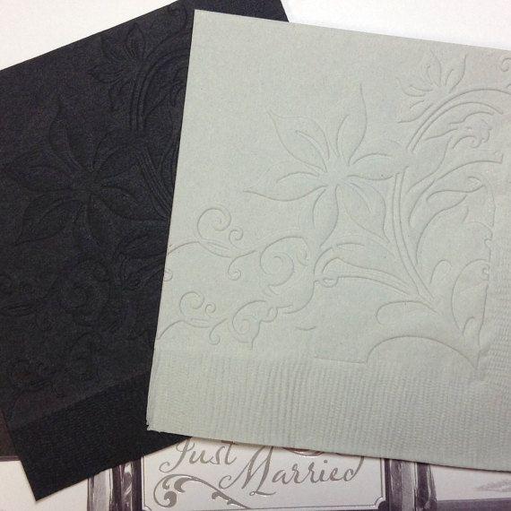 Wedding Napkin - Embossed Paper Napkin - Anniversary - Birthday - Bridal -  Shower - Engagement - Garden Party - Beverage - Cocktail