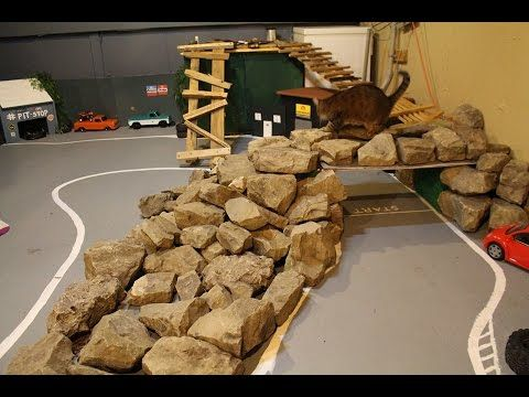 RC MC- Indoor Rock Crawler Course and Drift Track!