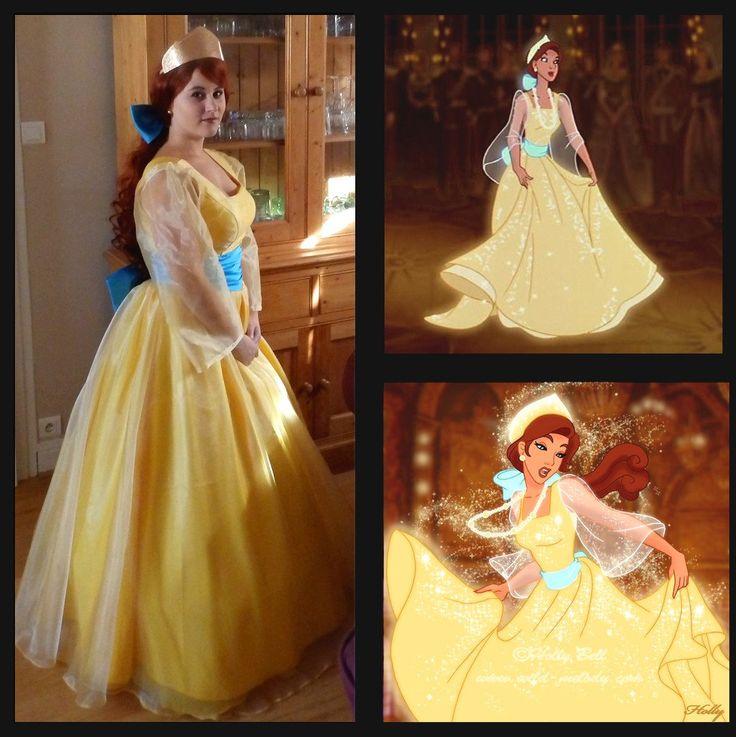 Anastasia cosplay costume Princess Anastasia yellow by Donecosplay