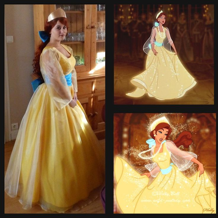 Anastasia cosplay costume Princess Anastasia yellow by Donecosplay