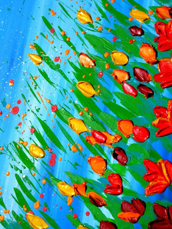 Title-  Free Spirited Dreamer  +++++++++++++++++++++++++++++++++++++++  This beautifully textured painting is hand made.  It has vibrant dabs of joyous color!  All the canvas paintings in this shop are originals (NOT just prints)!  ++++++++++++++++++++++++++++++++++++++++ SIZE:  This is a painting on a LARGE canvas. It is 36 inches x 24 inches (91.5cm x 60.5cm ). It is 1.4 inches deep (3.5 cm).  Please use the measurements rather than the photos to judge the size…