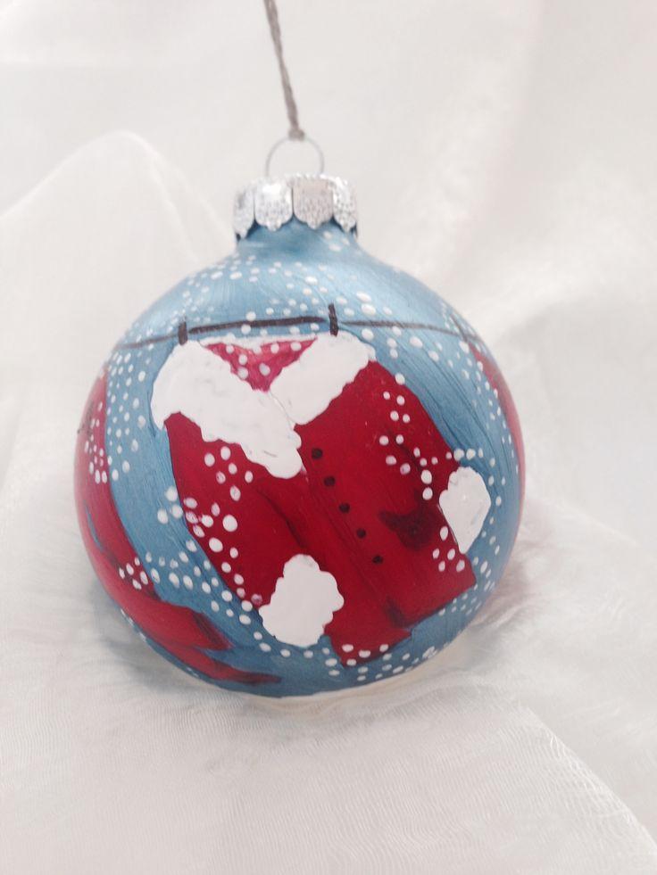 Santas clothesline. Hand-painted ornament by Melissa L McNamara