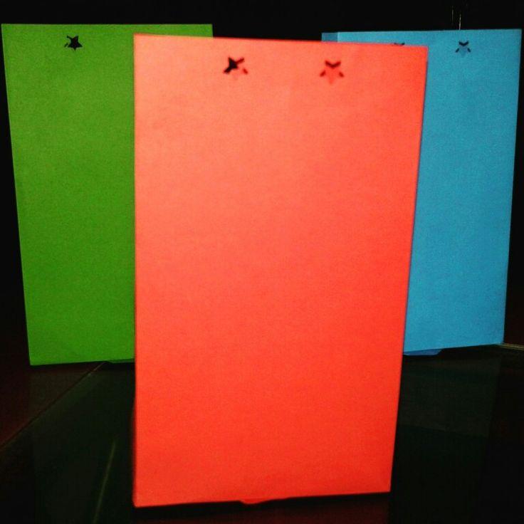 Bolsas de papel para las chucherías de los cumpleaños.