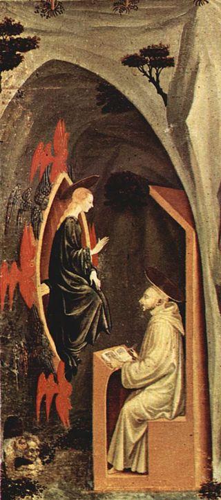 Paolo Uccello - Tebaide (dettaglio) - tempera su tela - 1460 circa - Galleria dell'Accademia a Firenze.