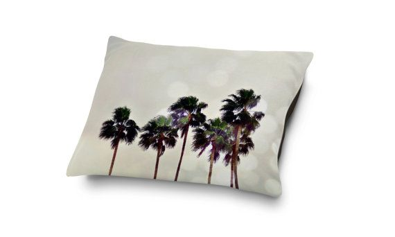 Bring the beach to your furry companions sleep settings with this pet bed home decor bedding, featuring a light gray coastal landscape of tropical