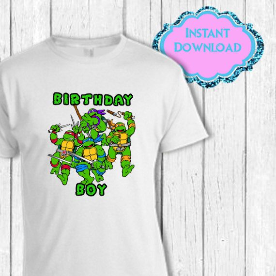 17 best images about teenage mutant ninja turtles party for Where can i buy ninja turtle shirts