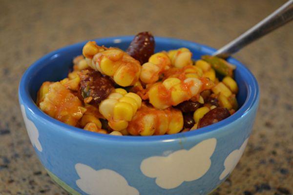 Cajun Corn and Kidney Bean Salad | One Green Planet