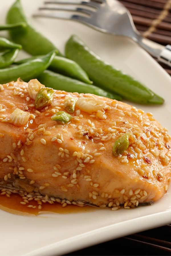 The combination of ginger, garlic and sesame add a wonderfully Asian flavor to this easy salmon recipe.
