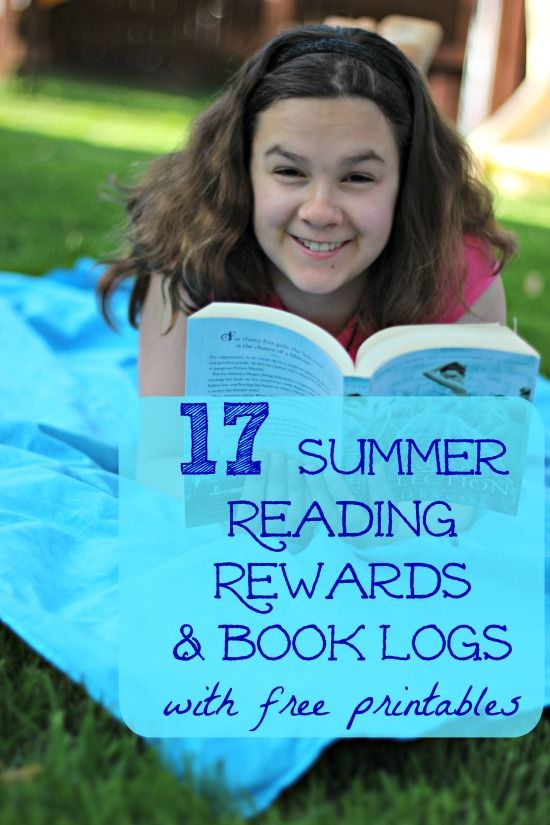 Awesome list of Reading Rewards and summer reading ideas for kids -- with free printable reading logs!
