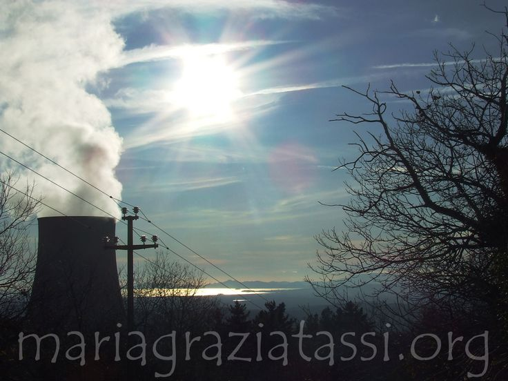 Energy, Sun, Tree, Electricity, Power, Geothermal Science, Monterotondo Marittimo, Maremma, Tuscany, Italy.