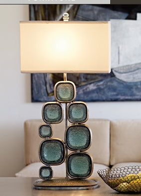 palecek lighting. Lamp With Rounded Rectangle Glass (not Quite Circles) From Palecek Design At Http: Lighting