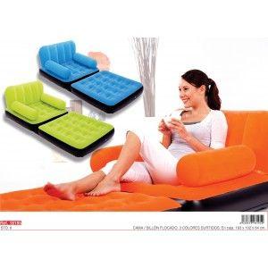 Sofá-cama flocado hinchable en http://www.tuverano.com/camas-hinchables/597-sofa-cama-flocado-hinchable.html