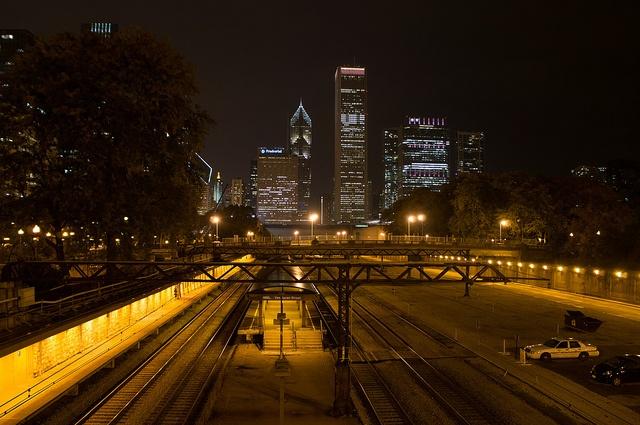 Chicago skyline at night | Flickr - Photo Sharing!
