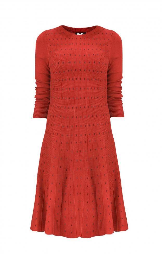 Γυναικείο φόρεμα πλεκτό κλος  FORE-2253