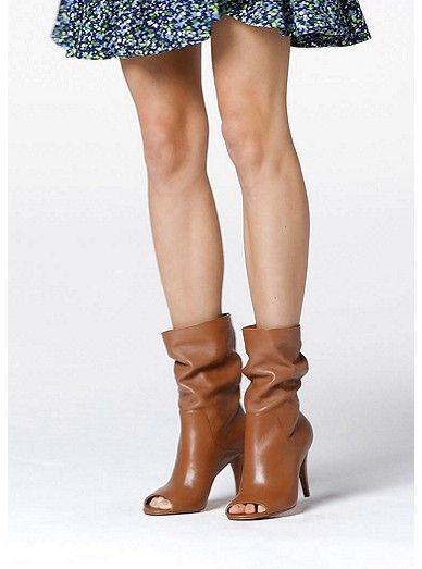 1194d740c Elaine Leather Open-toe Boot   Michael Kors   Women's fashion in ...