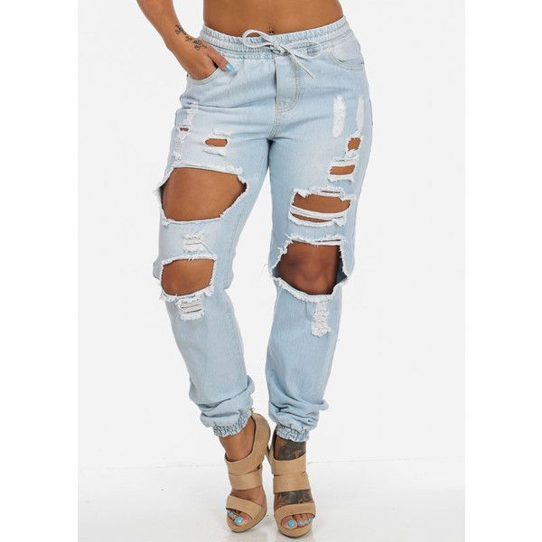 1000  ideas about High Waisted Distressed Jeans on Pinterest