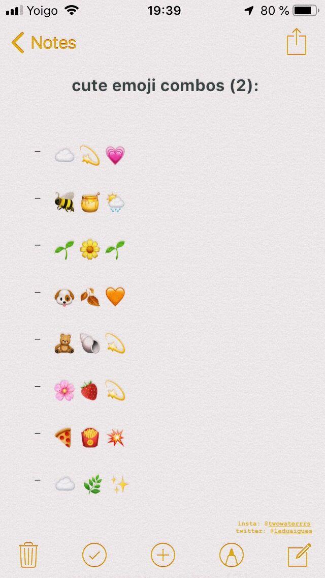 Cute Emoji Combos 2 Emoji Combinations Cute Emoji Combinations Instagram Emoji