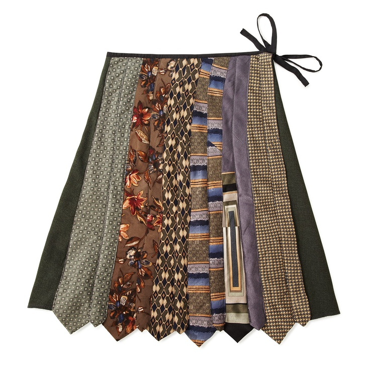 Vintage Tie Skirt - fun way to recycle old ties I think I will do this with my Dad's old ties.