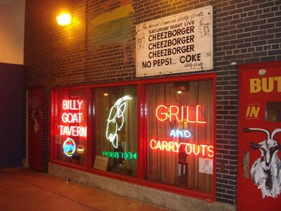 One of my favorite memories, going to Chicago's Billy Goat Tavern.