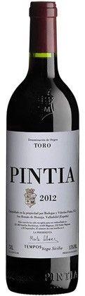 Pintia 2012 , vino tinto de Toro de Bodegas Pintia del grupo Vega Sicilia