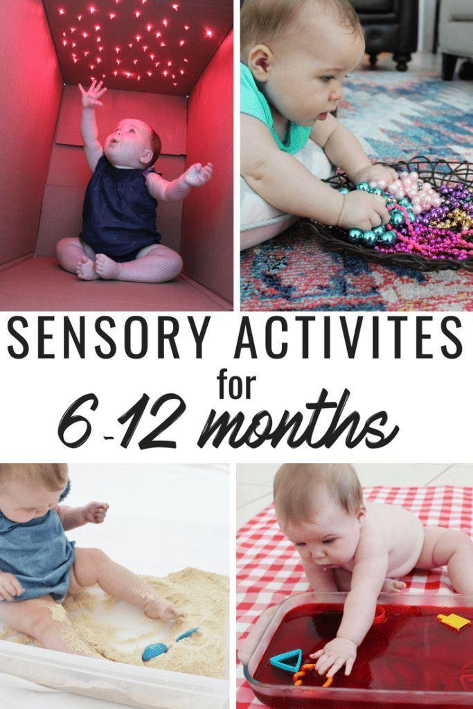 Eine großartige Liste von sensorischen Aktivitäten für Babys von 6 bis 12 Monaten! Essbare Aktivitäten