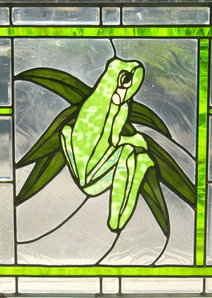 Education Stained Glass Studio - Residential Windows frog