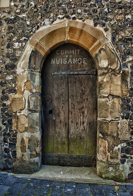 Commit no Nuisance: Clock Tower, Portal, Tower Entrance, Entrance Doors, St Albans, Albans School