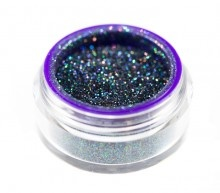 """Scorpio""  Black glitter with multi-colored sparkle. Shiny like the back of a scorpion."