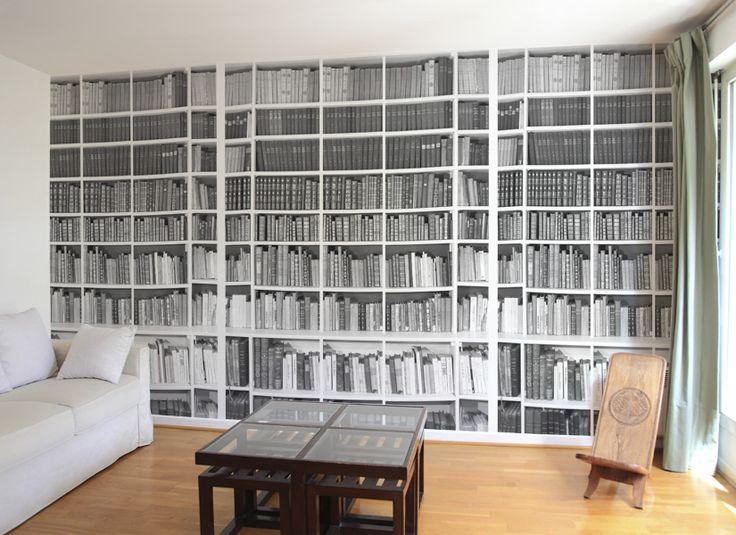 Papier peint Bibliotheque Noir et Blanc salon B.jpg