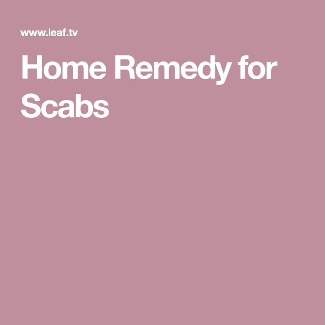 Home Remedy For Scabs