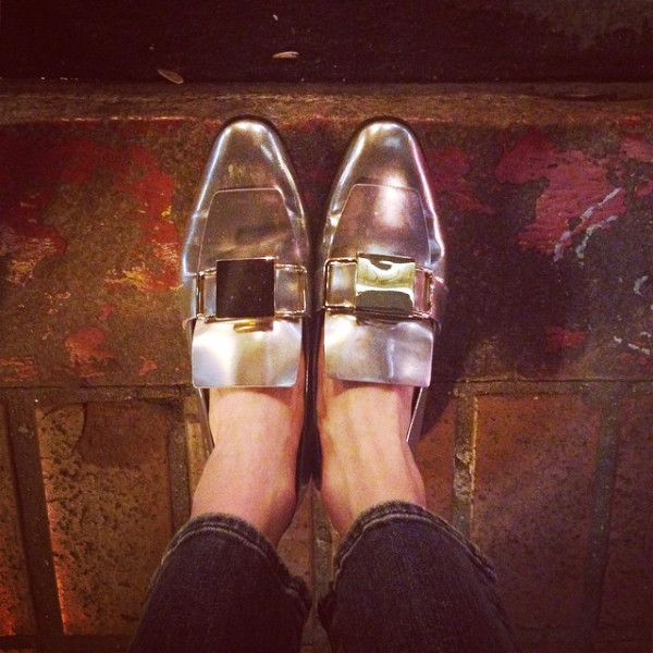Kate Bosworth Makes A Case For Metallic Shoes | The Zoe Report