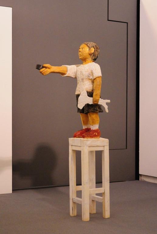 """Saatchi Online Artist: paolo figar; Wood, 2011, Sculpture """"high volume"""""""