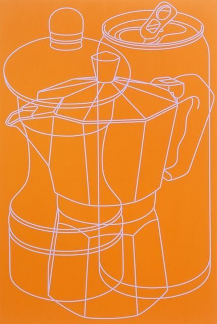 Michael Craig-Martin, Untitled (orange 2) on ArtStack #michael-craig-martin #art