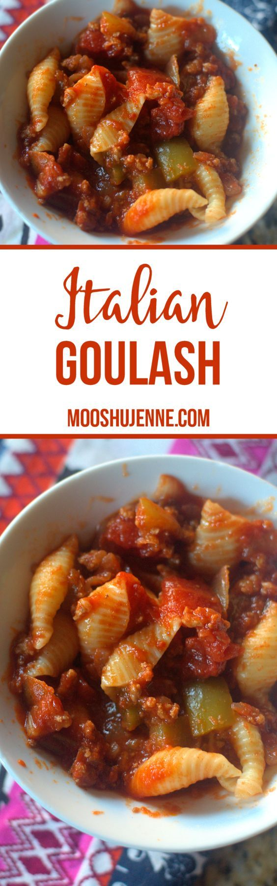 Italian Goulash is what she called it. Goulash has many forms from stewed beef in paprika to the versions I am used to with ground beef or even stew beef or pork for the more traditional Italian versions.