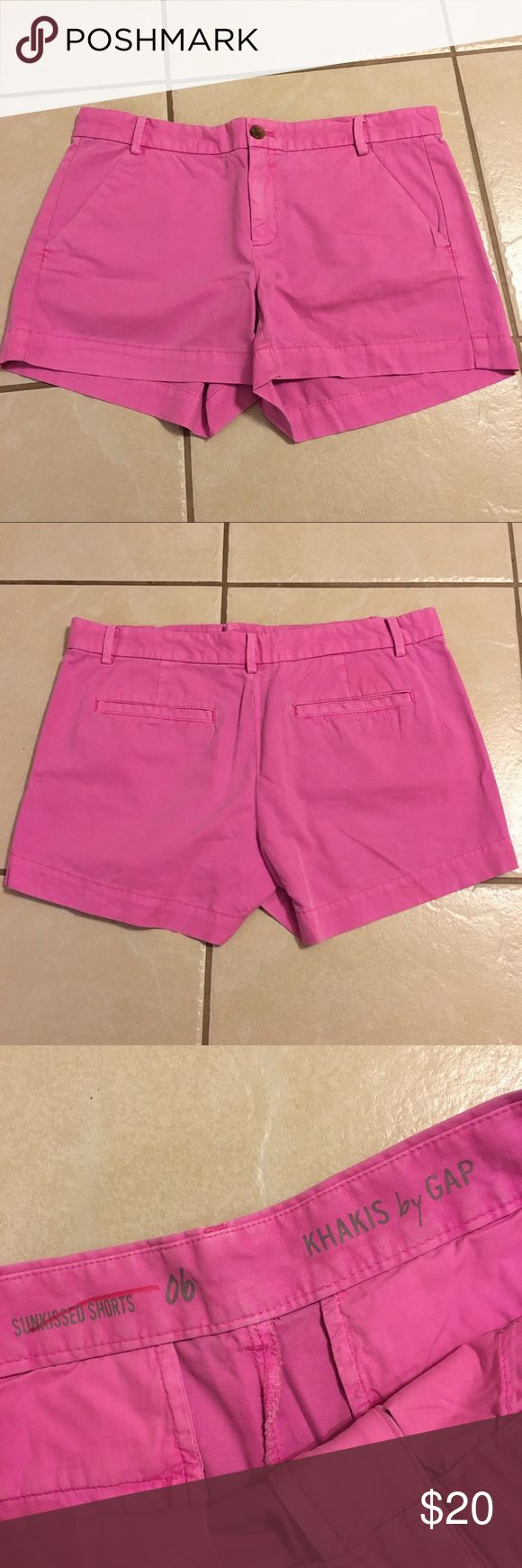 Gap chino shorts Khakis by Gap shorts. Chino style, size 6. Like new condition (mark inside is because they were purchased from the Gap outlet store) GAP Shorts