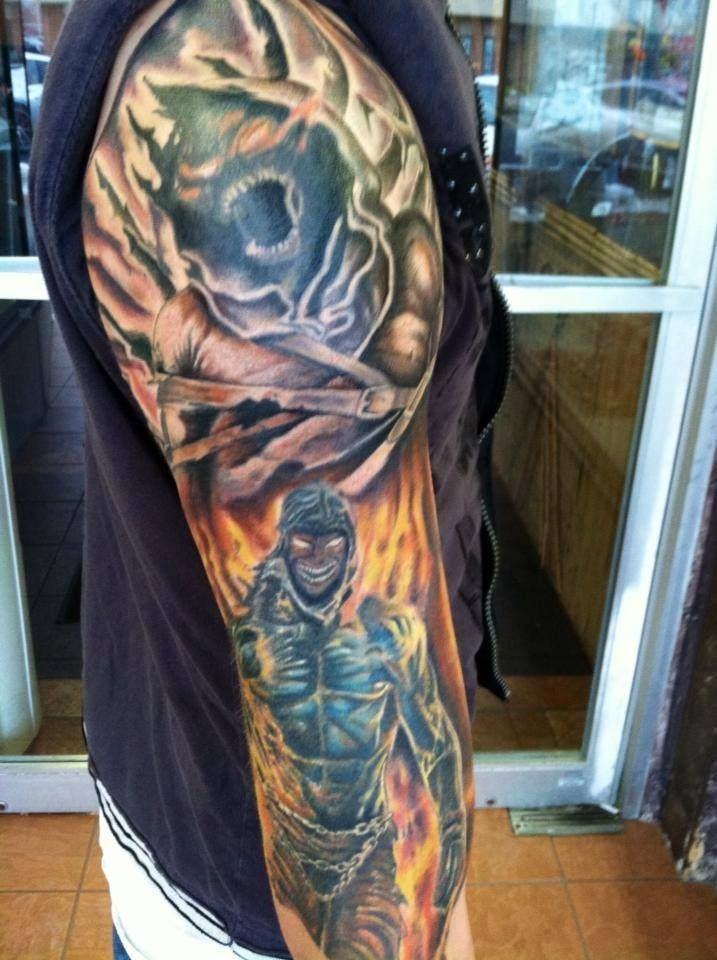 "It's a ""DISTURBED"" tattoo!!!!! Fuckin hell yeah ..."