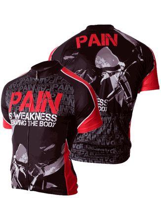 83 Sportswear Pain is Weakness Cycling Jersey