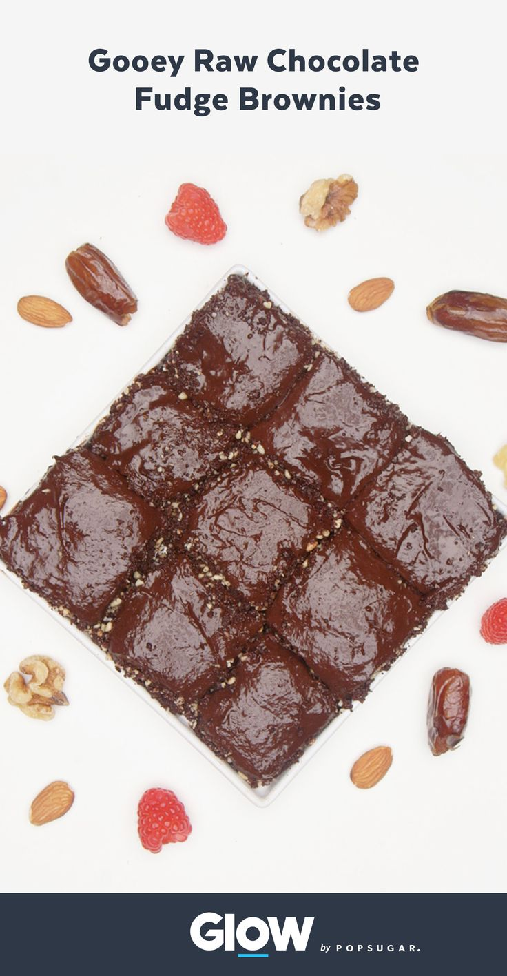 Satisfy your sweet tooth with gooey raw fudge brownies.