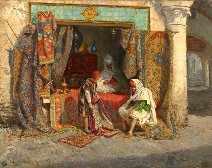 The Carpet Seller by John Frederick Lewis http://www.pinterest.com/patricianez/orientalismo/
